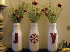 Pin Joy Bottle Mantle Display on your Christmas Board