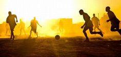 Football in the sunlight