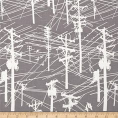 Grafic Power Lines Gravel from @fabricdotcom  Designed by Latifah Saafir Studios for Hoffman California International Fabric, this cotton print is perfect for apparel, quilting and home decor accents. Colors include gray and white.