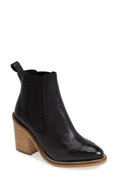 'Maine Brogue' Chelsea Ankle Bootie / Top Shop