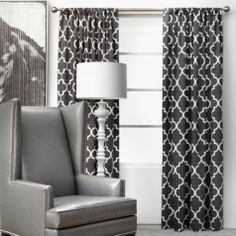 Mimosa Panels - Charcoal from Z Gallerie