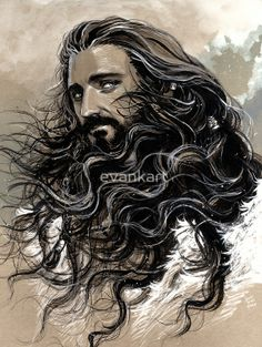 """""""Thorin Oakenshield"""" Greeting Cards & Postcards by evankart 