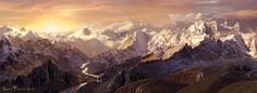 Misty Mountains - Sarel Theron Digital Matte Painting