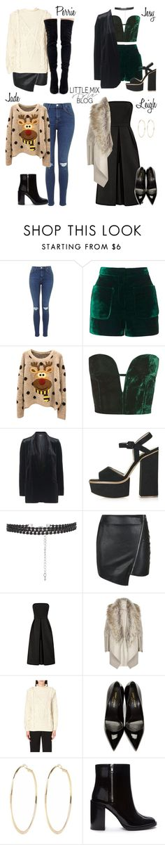 """*REQUESTED* LM Inspired for a Christmas Party"" by littlemix-styleblog ❤ liked on Polyvore featuring Topshop, Parisian, River Island, UNIF, Yves Saint Laurent and Forever 21"