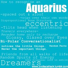 How to recognize an aquarius Astrology Aquarius, Aquarius Traits, Aquarius Woman, Age Of Aquarius, Characteristics Of Aquarius, Personality Characteristics, Aquarius Sign, Aquarius Quotes, Zodiac Quotes