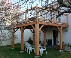 Terrasse bois suspendue à Angers