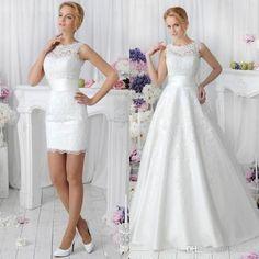 21 Smart Convertible Wedding Dresses   HappyWedd.com