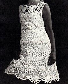 Vestido al crochet vintage ❀ ◈ ❀ ◈ ❀ ◈ ❀