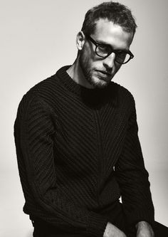 I'm pinning this just because....I really like it! Hot guy, nice lighting/shadows, glasses, sweater, just everything.
