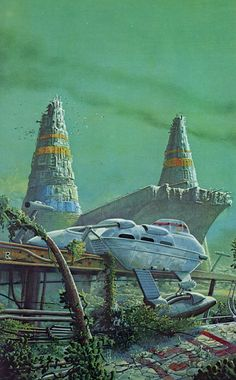 Hey there folks. Enjoy this Inspiring artwork by Colin Hay and Bob Layzell to start your day. is here to inspire your retro core. Fantasy Kunst, Sci Fi Fantasy, Fantasy World, Space Fantasy, Sci Fi Kunst, Science Fiction Kunst, Arte Sci Fi, 70s Sci Fi Art, Classic Sci Fi