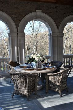 Enchanted Home - Loggia Decor, Home, Enchanted Home, Outdoor Dining, French Country House, House Design, Outdoor Decor, Outdoor Rooms, Outdoor Furniture Sets