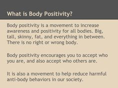 Let us all work together to create a body positive society. #BodyPositive #freespo  | RePinned by CamerinRoss.com