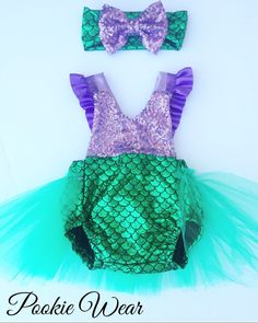 Little mermaid costume, Little Mermaid dress, mermaid costume, mermaid dress, little mermaid birthday outfit, mermaid baby outfit, by PookieWear on Etsy https://www.etsy.com/listing/251255932/little-mermaid-costume-little-mermaid