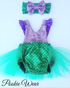 Little mermaid costume, Little Mermaid dress, mermaid costume, mermaid dress, little mermaid birthday outfit, mermaid baby outfit, by PookieWear on Etsy https://www.etsy.com/listing/251255932/little-mermaid-costume-little-mermaid