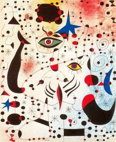 Ciphers and Constellations, in Love with a Woman, Gouache by Joan Miro…