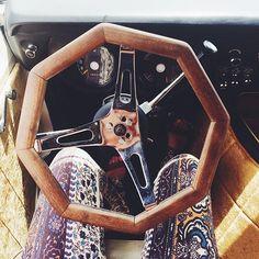 Octagon steering wheel, a necessity for all custom vans