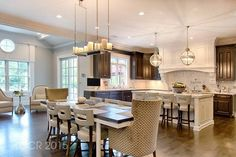 kevin jonas home kitchen with pendant lights