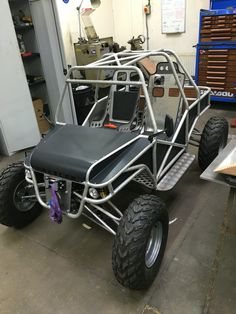 Putting it all back together ready for moving house. It's gonna live in my new garage for a while. I've made the dashboard now and fitted the drivers seat with a seat runner. Go Kart Buggy, Off Road Buggy, Mini Jeep, Mini Bike, Kart Cross, Go Kart Frame, Homemade Go Kart, Go Kart Plans, Custom Golf Carts