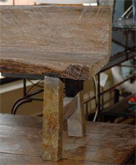 Organic Rustic Bench at 1stdibs