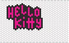 Hello Kitty bead pattern
