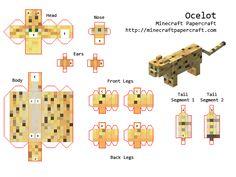 minecraft paper cutouts | Papercraft Ocelot