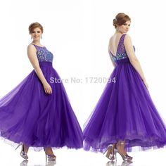 2015 Plus Size Prom Dress Sheer Scoop Half Sleeves Long Formal ...