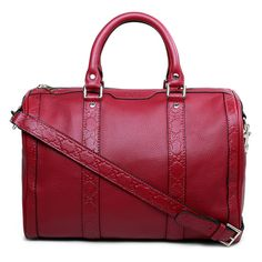 Gucci Embossing leather handbags 247205 red