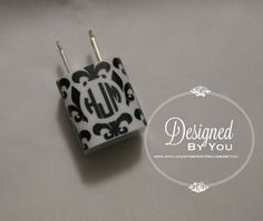 Fleur De Lis USB Wall Charger Wrap with Circle by DBYDesignedByYou, $5.00
