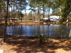 Land-O-Pines campground fishing pond. Visit www.camplop.com