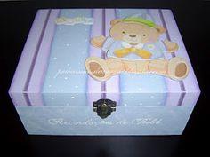 baby memories wood box, handpainted