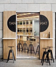 Plywood sliding doors - For more great ideas for your boutique hotel restaurant visit Independent Hotel Marketing.