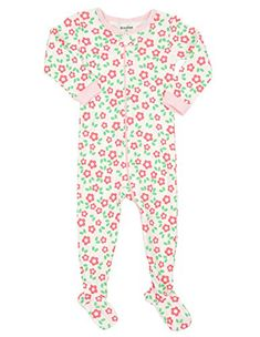 b8107d62b7 DinoDee Baby Girls Footed Pajamas Sleeper 100 Cotton Kids Pjs (6 Months-5  Toddler