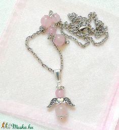 Rózsakvarc angyalka ásvány nyaklánc, féldrágakő rózsakvarc angyal medállal (amethysta) - Meska.hu Tassel Necklace, Bracelets, Jewelry, Fashion, Moda, Jewlery, Jewerly, Fashion Styles, Schmuck