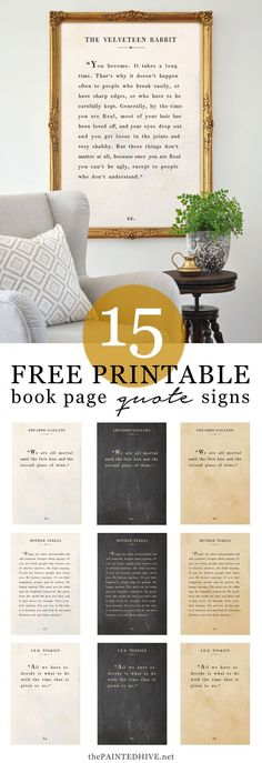 Amazing Large Scale Free Printable Quote Art