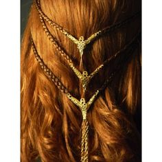 Hair Jewelry Acessories Here is the list of some beautiful Hair ornaments . - Here is the list of some beautiful Hair ornaments . Pretty Hairstyles, Braided Hairstyles, Crazy Hairstyles, Celtic Braid, Viking Braids, Costume Wigs, Costumes, Hair Ornaments, Hair Art