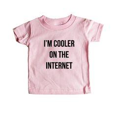 I'm Cooler On The Internet Internet Nerd Computers Nerds Signal Online Connection Programmer Programming SGAL8 Baby Onesie / Tee