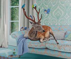 "Ana Elisa Egreja: ""Alcir the Sunny Deer"", 2010, oil painting."
