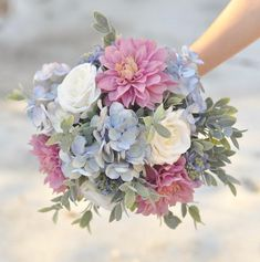 Wedding Bouquet Purple Bouquet Wedding Flowers Bride