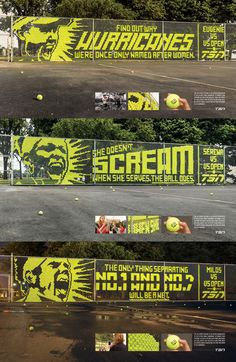 Fence & Tennis Ball Billboards by Leo Burnett