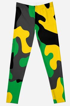 'Jamaica Camo Print Camouflage Lover Texture Pattern Accessories' Leggings by Bithys Online Awesome Leggings, Best Leggings, Iphone Wallet, Iphone Case, Camo Print, Textures Patterns, Shirt Dress, T Shirt, Jamaica