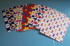 Autism ribbon. Aspergers awareness. Special by 1OfAKindCrafts