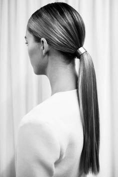 Sleek sophisticated ponytail