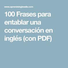 100 Frases para entablar una conversación en inglés (con PDF)