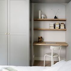 A cozy bedroom with the cutest study corner and A.Helsingö ENSIÖ wardrobe in Thermal Grey. A cozy bedroom with the cutest study corner and A.Helsingö ENSIÖ wardrobe in Thermal Grey. Bedroom Built In Wardrobe, Ikea Wardrobe, Closet Bedroom, Cozy Bedroom, Bedroom Decor, Bedroom Furniture, Wardrobe With Mirror, Pax Corner Wardrobe, Wardrobe Storage