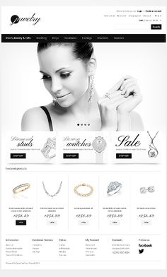 Template 40922 - Jewelry Store OpenCart Template