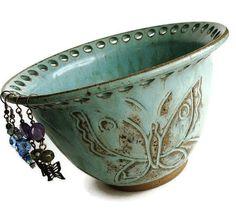 Ceramic jewelry bowl earring bowl ceramic earring by Artgirl56