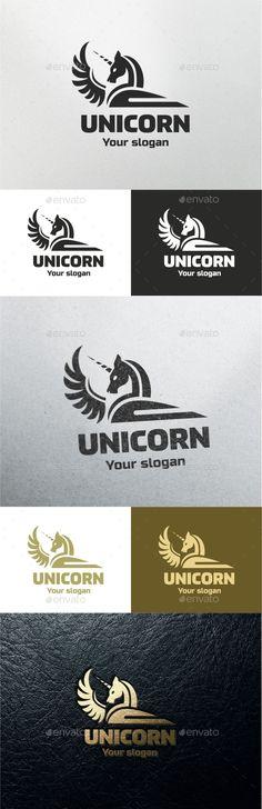 Unicorn Logo Template #design Download: http://graphicriver.net/item/unicorn-/11286629?ref=ksioks