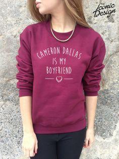 * CAMERON DALLAS IS MY BOYFRIEND Jumper Sweater Top Sweatshirt Tumblr Vine Dope* #Unbranded #Jumpers