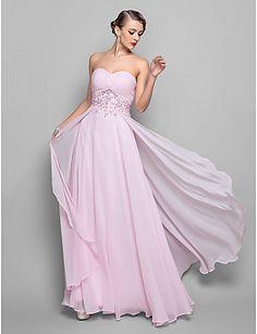 A-line Sweetheart Floor-length Chiffon Evening Dress (551465) - USD $ 148.49