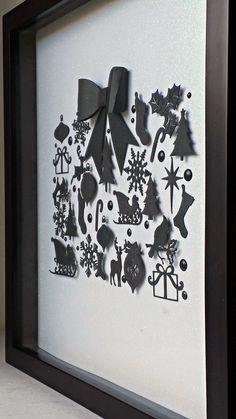 Ameroonie Designs: Black and White Christmas Shadow Box